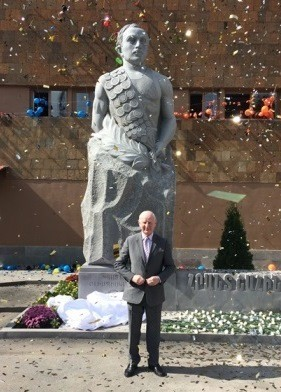 Pat Hickey at unveiling of Hrant Shahinyan monument in Armenia