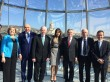 Pat Hickey with President of IOC Thomas Bach and President  Giorgi Margvelashvili in Tbilisi Georgia with IOC delegation