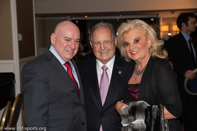 ISSF ExCo member Kevin Kilty and ISSF President  Olegario Vázquez Raña and his wife María.