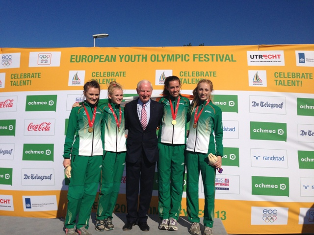 From left to right  Phoebe Murphy, Laura Ann Costello, Pat Hickey, Roseanna McGuckian, Niamh McNicol