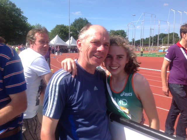 Louise Shanahan and her Dad