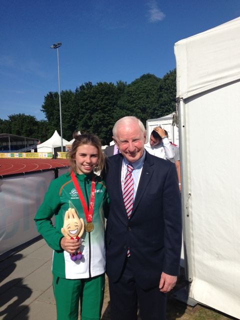 Louise Shanahan with Pat Hickey