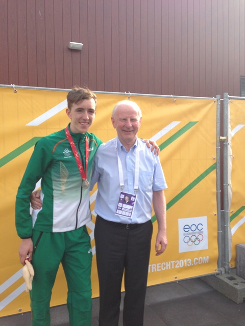 William Crowe Silver Medal Winner and Pat Hickey President