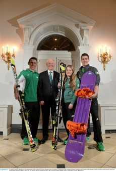 From left to right: Conor Lyne, Pat Hickey, Florence Bell, Seamus O'Connor