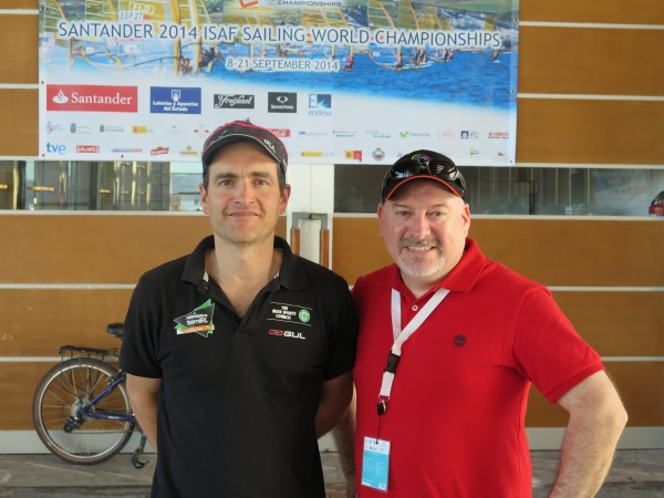 ISA Performance Director James O'Callaghan and Team Ireland Chef de Mission Kevin Kilty