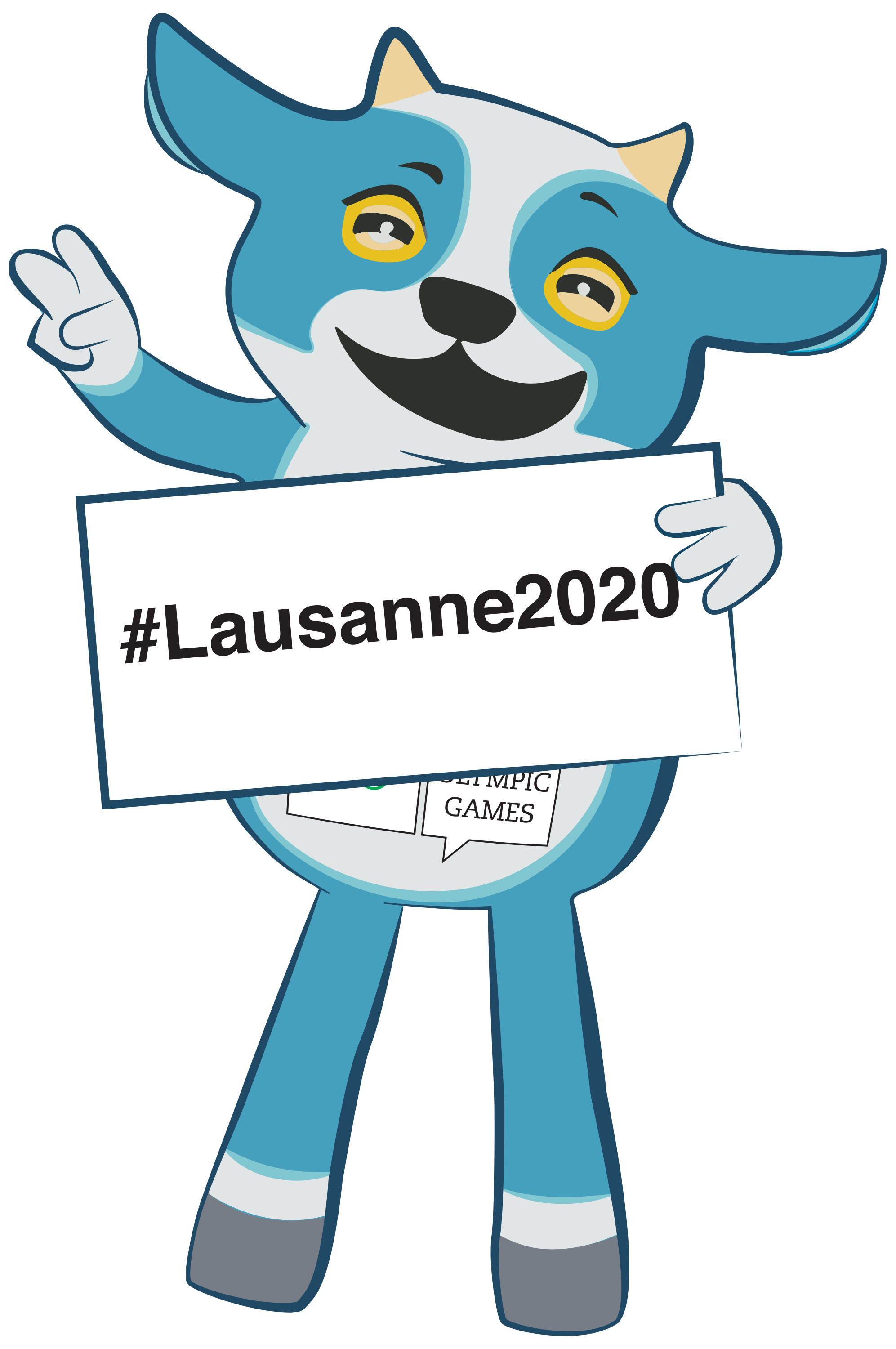 lausanne 2020 mascot yodli unveiled on one year to go. Black Bedroom Furniture Sets. Home Design Ideas